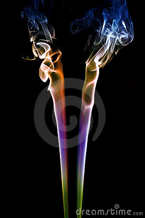 Colored Smoke on Black 3