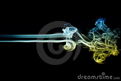 Colored Smoke on Black 6