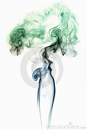Colored Smoke on White 3