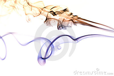 Colored Smoke on White 5