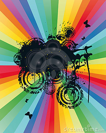 Free Colored Speaker Background Stock Images - 7091804