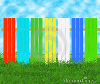 Colored spring fence