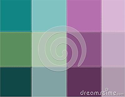 Colored squares aqua