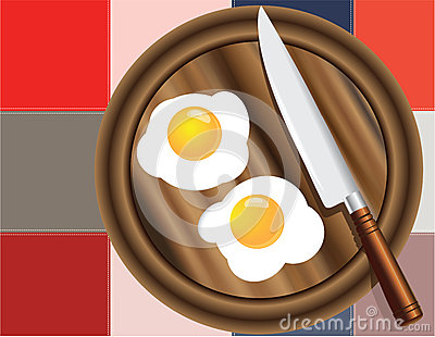 Colored squares and fried eggs