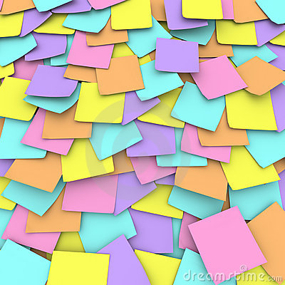 Free Colored Sticky Note Background Collage Royalty Free Stock Image - 10615136