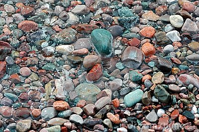 Colored Stones On Ocean Shore 2