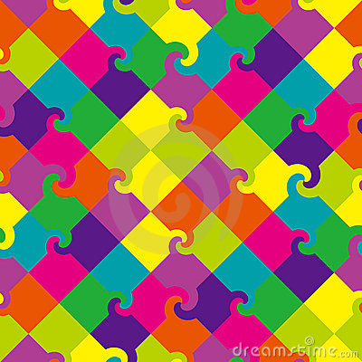 Colored swirl squares pattern