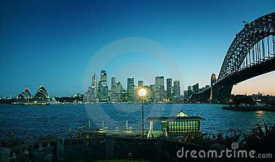 Colored sydney landmarks Editorial Photography