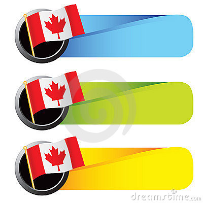 Colored tabs canadian flag