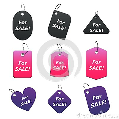 Colored tags - for sale