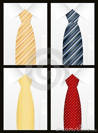 Colored tie set