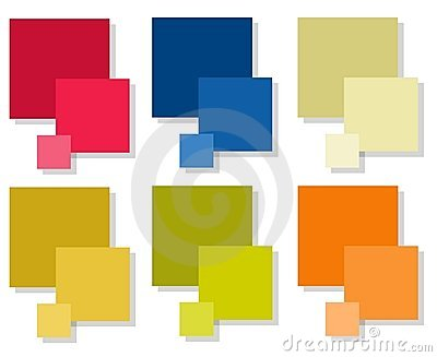 Colored Tiles Squares
