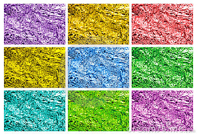Colored tin foil textures
