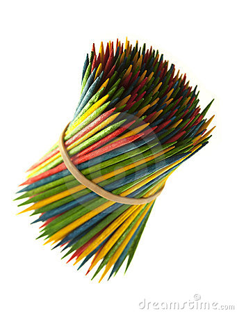 Free Colored Toothpicks Stock Image - 19471001