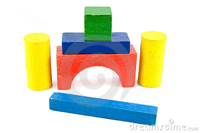 Colored toy blocks