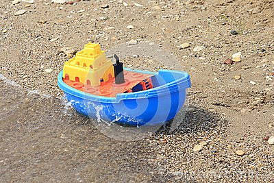 Colored toy boat