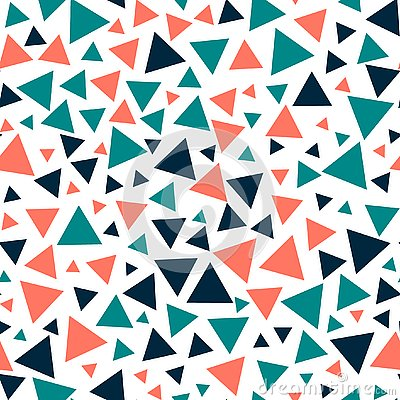 Colored triangles - seamless pattern. Vector Illustration