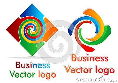 Colored twist logo