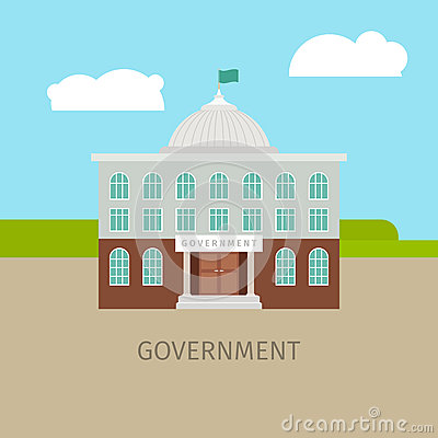 Colored urban government building Vector Illustration