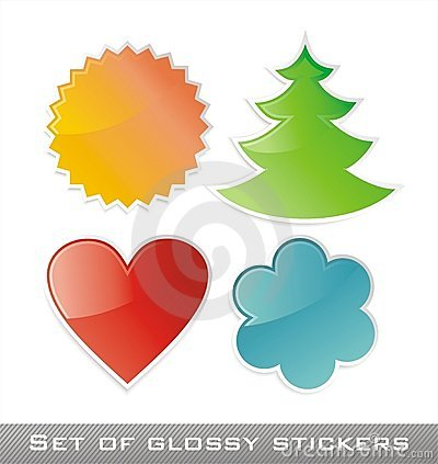 Colored vector stickers