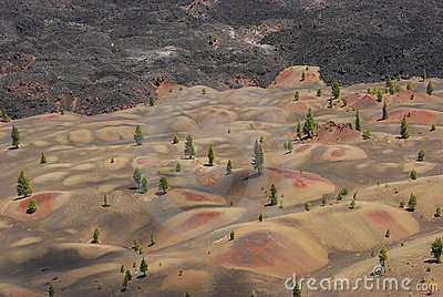 Colored Volcanic Dunes