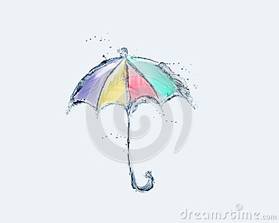Colored Water Umbrella