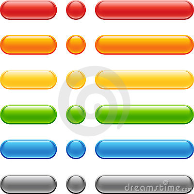 Free Colored Web Button Set Royalty Free Stock Photography - 21163217