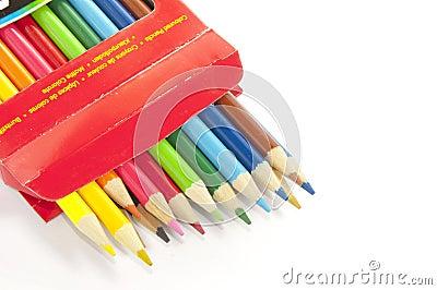 Colored wheel in box