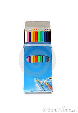 Free Colored Wooden Pencils In A Box Royalty Free Stock Photo - 15583575