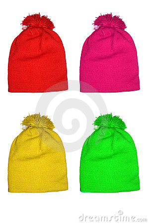 Colored Wool Hats for Kids