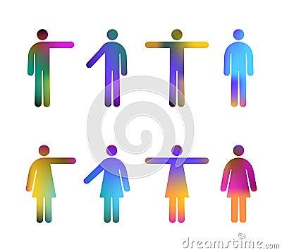 Colores de los pictogramas de la gente