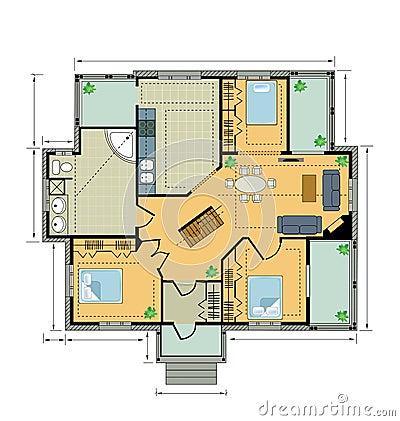 Colorez la maison de campagne de plan image stock image 22179351 - Xxl plan de campagne ...