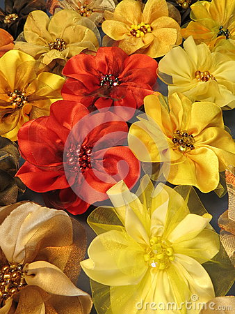 Colorfu fabric flowers