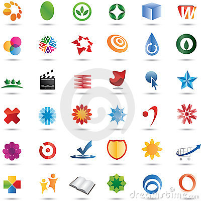 Free Colorful 36 Vector Logo Design Set Stock Images - 15002534