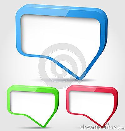 Colorful 3d bubble speech