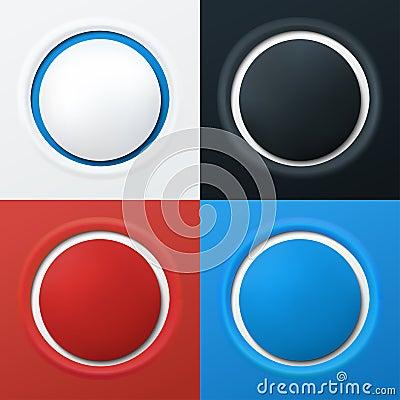 Colorful 3d buttons