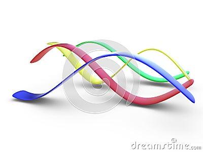 Colorful 3d curves