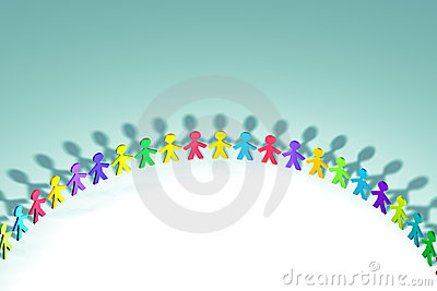 Colorful 3D people