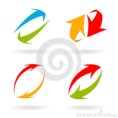 Free Colorful 3d Vector Arrows Set Stock Photo - 25511170