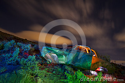 Colorful Abandoned Junked Car