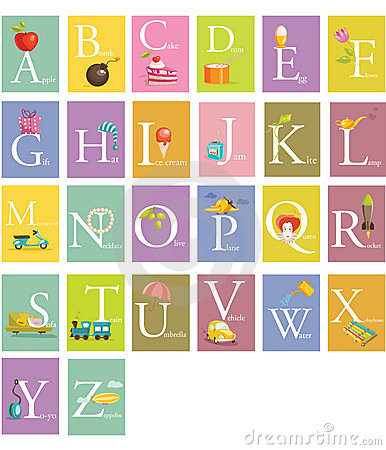 Colorful abc letters