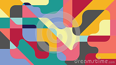 Colorful abstract background. Irregular geometric forms, multiple colours. Vector illustration for background, wallpaper, web. Vector Illustration