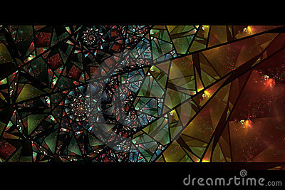 Colorful Abstract Background Stained Glass