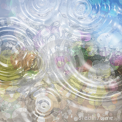 Free Colorful Abstract Background With Water Drops. Calm Colors Stock Photos - 46882783