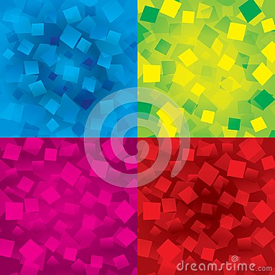Colorful abstract backgrounds set with rectangles