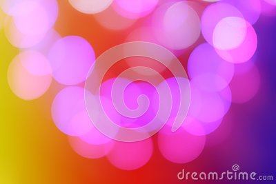 Colorful abstract blurred circular bokeh light of night city street for background. graphic design and website template Stock Photo
