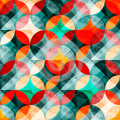 Free Colorful Abstract Circles Seamless Pattern Vector Illustration Royalty Free Stock Photo - 62300685