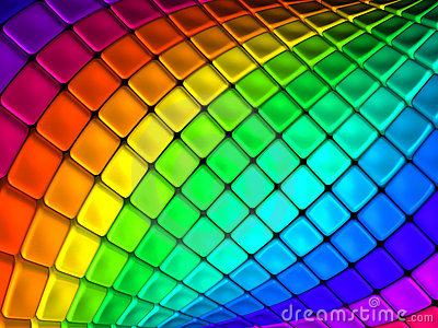 Colorful abstract cube backgroun