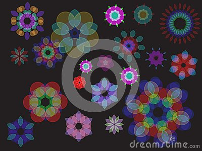 Colorful Abstract Floral Wave Background
