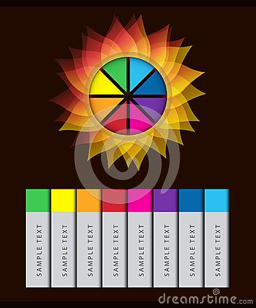 Colorful Abstract Flower Infographic Vector